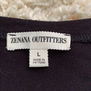 Zenana Outfitters Tops - Large black T-shirt V neck Zenana